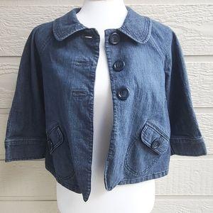 Style & Co. petite denim cropped jacket size Small